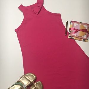 Newport News Pink Dress with Bow, sz S
